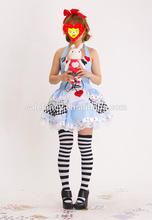 female full hd xxxl tv sexy alice costume carnival costume alice in wonderland dress pin up costume girl QAWC-2220