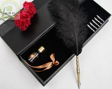 Promotional Gift Elegant Antique Feather Quill Pen/Hot Selling Feather Quill Pen