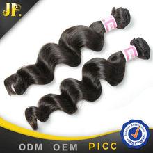 JP Hair 7A grade brazilian virgin hair loose wave natural color cheap salon styling stations