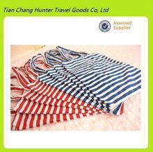White blue/red Stripe cotton shopping bag