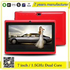 Zhixingsheng 7 inch android two cameras tablet pc Q88+3000MAH battery ZXS-Q88