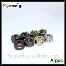 2014 new arrived best mechanical mod RDA atomizer aiflow control Argus 26650 rda max vapor e cig