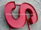 direct factory of fairground decorative 3D metal bar open led sign