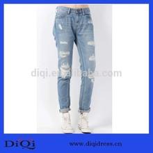 2014 Autumn New Model Washed Broken Boyfriend Jeans Pants
