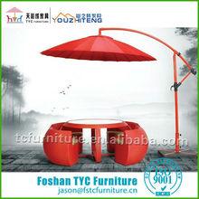 2014 new red colour rattan outdoor furniture garden furniture