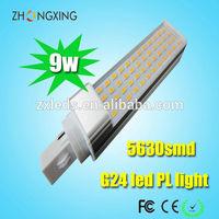 Aluminum LED Light Housing G24D-2 LED PL Lights 9W 4000K LED Lamp SMD Epistar Chip CE RoHS Listed