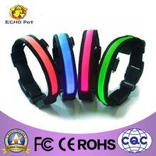Bright series nylon LED pet collar