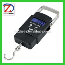 2013 new design digital fishing weighing scale 40kg travel portable scale with Backlight function
