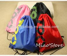 Commercial 210D Polyester Backpack ,Nylon Kids DrawString Bag