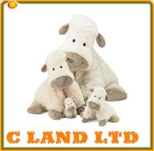 Funny cheap hot selling black promotional plush sheep