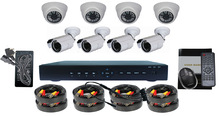 8CH DVR Kit & security camera set 1000tvl dvr cctv kamera kit