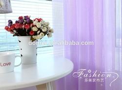 100% Polyester Yarn Dyed Bright Plain Sheer Turkey Curtain