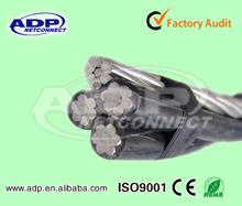 Bundled triplex overhead ABC power cable drop Aluminum abc wire