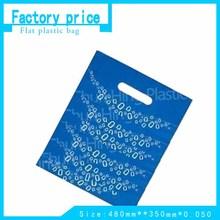 100% virgin HDPE/LDPE Material die cut plastic bag