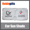 Promotional car windshield sunshade