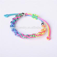 Cor do arco-íris chinesa daron tecido pulseira lc-bgf062