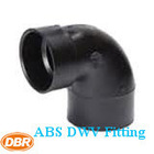 manufacturer ABS DWV 90 degree elbow / bend plastic pipe fitting with CUPC