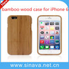 New arrival hot selling For iphone 6 Wood case, bamboo wood case cover