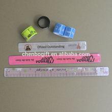 OEM Factory kids pvc slap band and silicone slap band bracelet