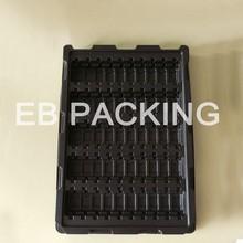 Designed Vacuum Flocked Tray ,,Electronics pack tray