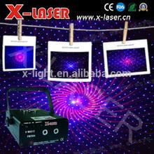 Vermelho e azul fogos de artifício do partido luz laser / 8 gráficos celebração do feriado luz laser / mini luz loja