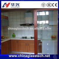 Oil and smoke insulation glass sliding opening aluminium kitchen cabinet doors