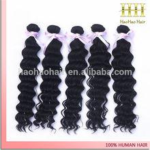 Золотой поставщик необработанные глубокая волна индийский волосы картины из натуральных волос наращивание