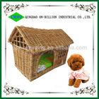 Wholesale wicker new desigh handmade soft pet house wicker dog bed