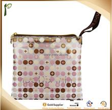 Popwide hot Sale High Quality Colors plastic travel kit bag/handbag/traveling plastic bag