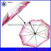 Pretty manual open cute 3 folding umbrella