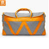 Contrast Faux Leather Trimming Fashion Weekend Travel Duffle Bag
