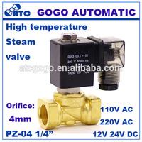 High temperature solenoid valve pneumatic steam control 12v 24v 110v 220v