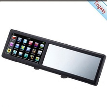 Professional Navigation Popular Model 128MB RAM+4GB Wince Rear View Mirror Monitor With Bluetooth Dvr And Android 4.0 4.3""