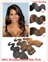 Full cuticle virgin remy machine human hair weft extension wavy hair