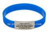 Engraved metal name tag bracelet medical silicone id tag