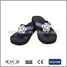 trendy hot sale china wedge beautiful wholesale flip flops rhinestone