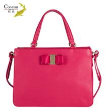 Excellent grade COD-FISH brand cowhide custom hardware carbotti brand name flap bag double cc handbag