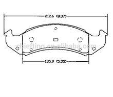D502 for BUICK PONTIAC brake pads production process