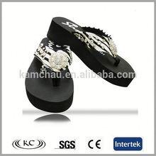 china stylish hot sale bling promotional ladies high platform flip flops