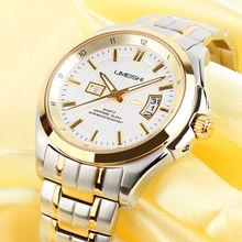 New Arrival Sapphire Crystal perfect quartz japan movement gold mens watch 2014