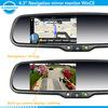 Gps navigation rearview mirror with bluetooth handfree, parking sensor,parking video system ,reversing camera
