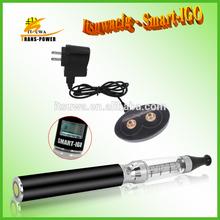 2014 Itsuwacig cheap e cig fashion huge vapor bottom coil smart LCD battery display e cig Smart-IGO