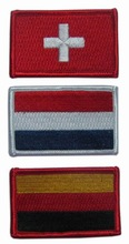 Choice of Nation Flag Iron On Patch Sew Embroidered Trim Applique DIY