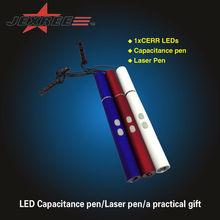 JEXREE popular led flashlight gift multifunctional touch pen mini led flashlight laser pen