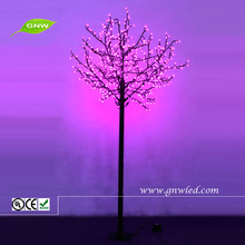 GNW tr256 Theme Park Trees Artificial Outdoor LED Tree Pink Lighted Flower Garden Ornaments