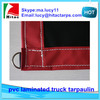 red/black color pvc laminated tarpaulin,truck tarpaulin with D-rings