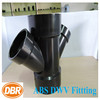 water pipes for sale CUPC NSF certificate Plastic Pipe Fitting ABS black double wye reducing for DWV sewer pipe