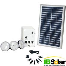 5W New mini indoor led home solar lighting kit