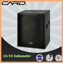 CARD Subwoofer series Good Sound 18 inch subwoofer, speaker box