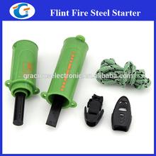 Survival Magnesium Flint Stone Fire Starter Emergency Lighter Kit For Camping